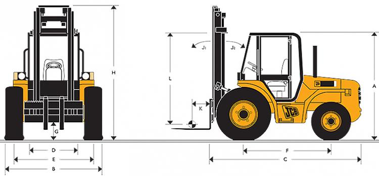 2 6 tonne JCB 926 Forklift at Headland Plant